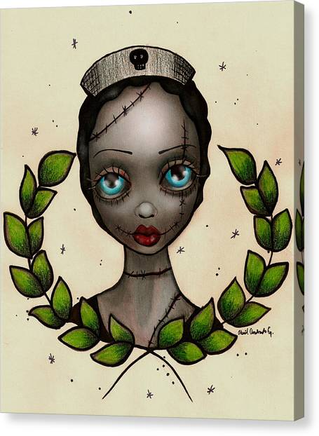 Nurse Shark Canvas Print - Zombie Nurse by  Abril Andrade Griffith