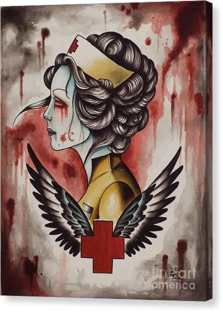 Zombie Nurse Canvas Print