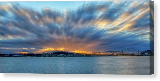 Zoomed Sunset Canvas Print
