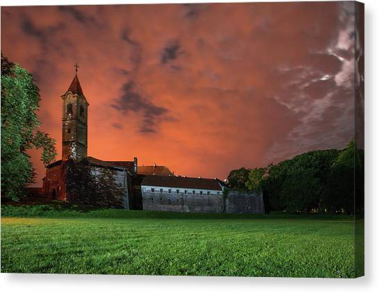 Canvas Print featuring the photograph Zrinskis' Castle 2 by Davor Zerjav