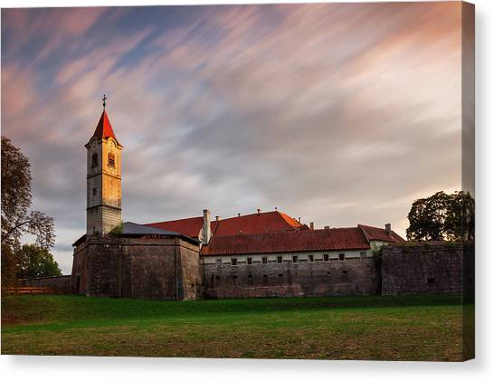 Canvas Print featuring the photograph Zrinskis' Castle by Davor Zerjav