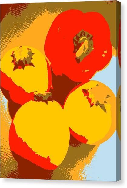 Canvas Print - Zucchini And Bell Pepper by Kumiko Izumi