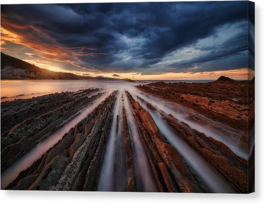 Coasts Canvas Print - Zumaia Flysch 6 by Juan Pablo De