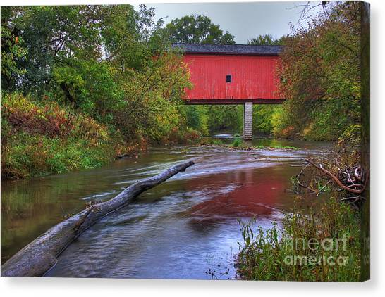 Zumbrota Minnesota Historic Covered Bridge 5 Canvas Print