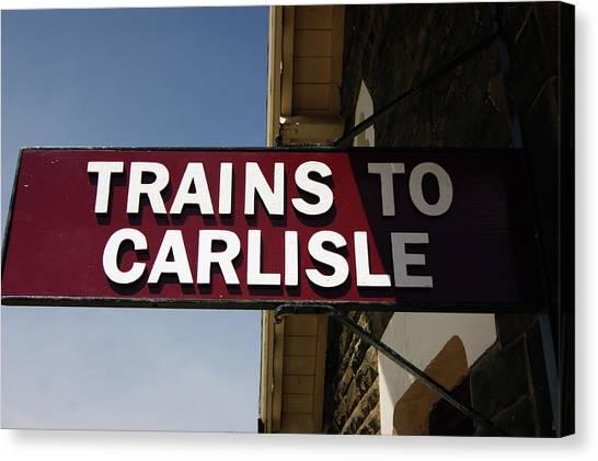06/06/14 Settle. Station View. Destination Board. Canvas Print