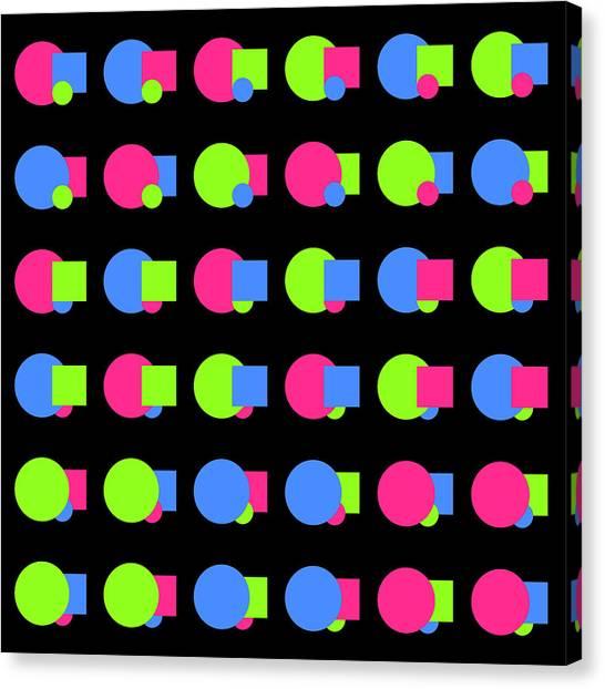 090 Circle And Square - Phi Canvas Print
