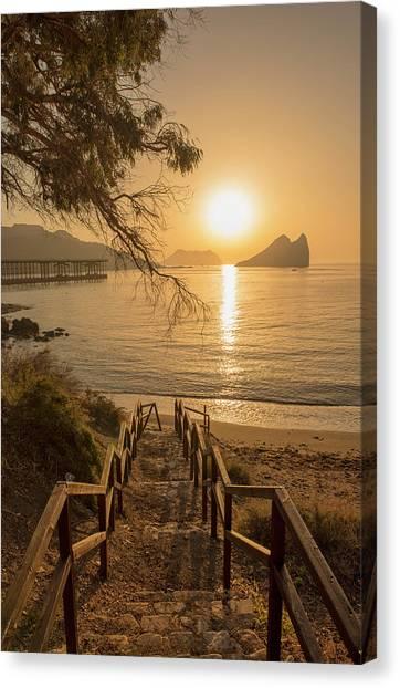 Access To The Beach At Dawn Canvas Print