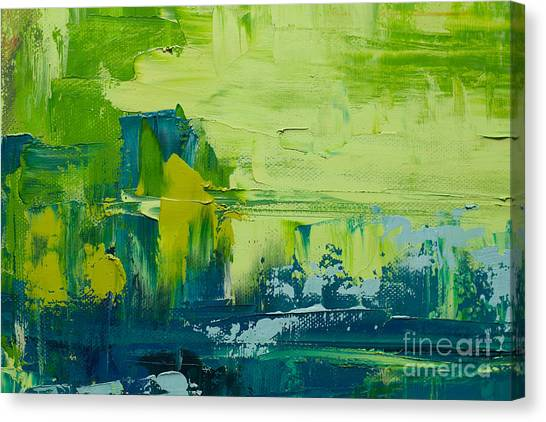 Brush Stroke Canvas Print - Abstract Art  Background. Oil Painting by Sweet Art