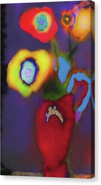 Abstract Floral Art 367 Canvas Print