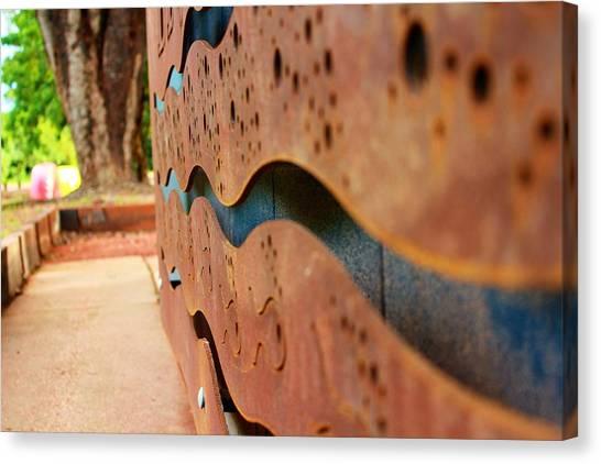 1 Abstract Lake Patricia Sign 3 Canvas Print