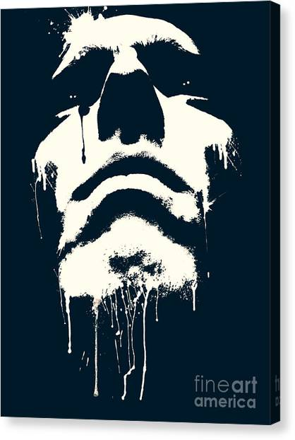 Powerful Canvas Print - Abstract Portrait by Tudor Catalin Gheorghe