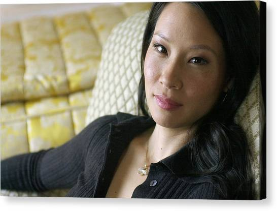 Lucy Liu Canvas Print - Actress Lucy Liu At The Ritz Carlton On by New York Daily News Archive