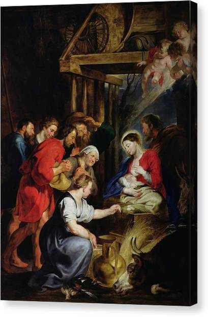State Hermitage Canvas Print - Adoration Of The Shepherds by Peter Paul Rubens