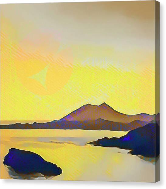 Aegean Sea And Sun Canvas Print