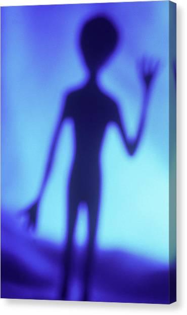 Alien Waving Canvas Print by Steven Puetzer