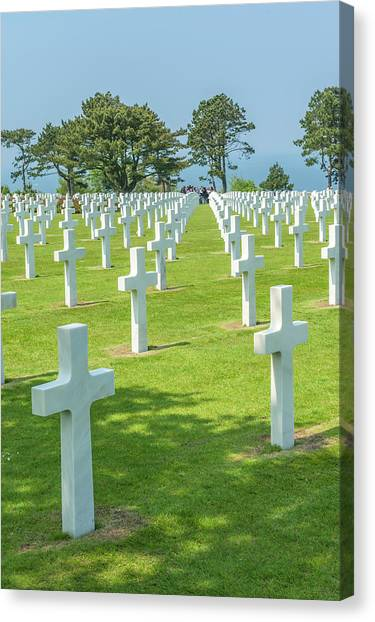 American Cemetery, Colleville Canvas Print by Jim Engelbrecht