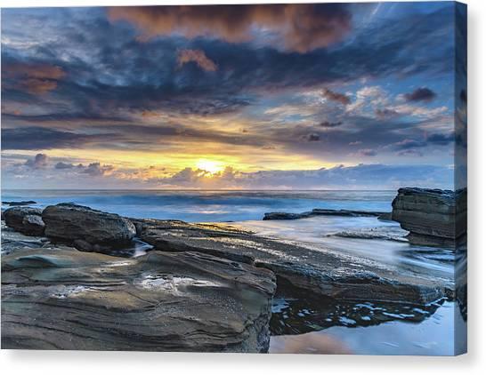 An Atmospheric Coastal Sunrise Canvas Print