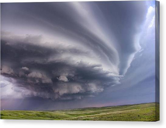 Anticyclonic Supercell Thunderstorm Canvas Print by Jason Persoff Stormdoctor