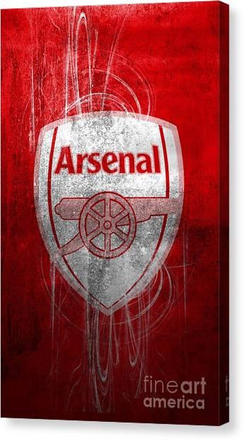 Arsenal Fc Canvas Print - Arsenal Fc by Santosa Surya