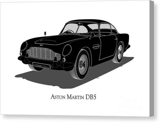 Aston Martin Db5 - Front View Canvas Print
