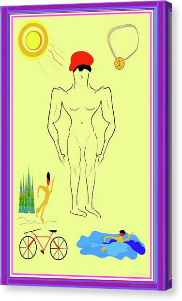 Male Nudes Canvas Print - Athletica by Laurence Wolfe