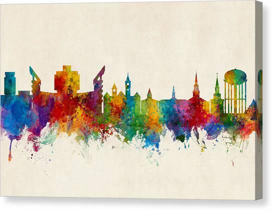 Alabama Canvas Print - Auburn Alabama Skyline by Michael Tompsett