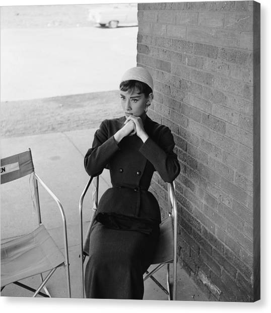 Audrey Hepburn Canvas Print by Hulton Archive