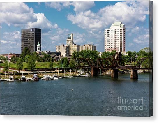 Augusta Ga - Savannah River Canvas Print