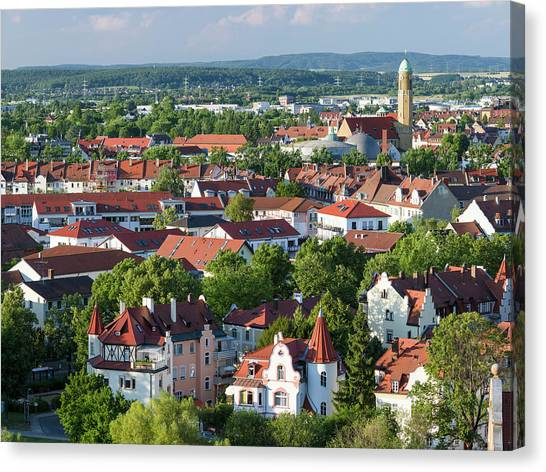Bamberg In Franconia, A Part Of Bavaria Canvas Print by Martin Zwick