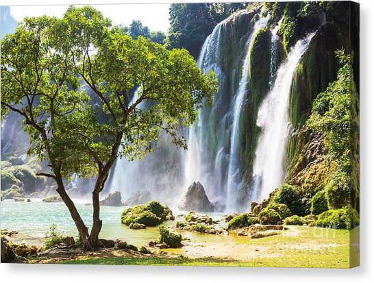 North Shore Canvas Print - Ban Gioc - Detian Waterfall In  Vietnam by Galyna Andrushko