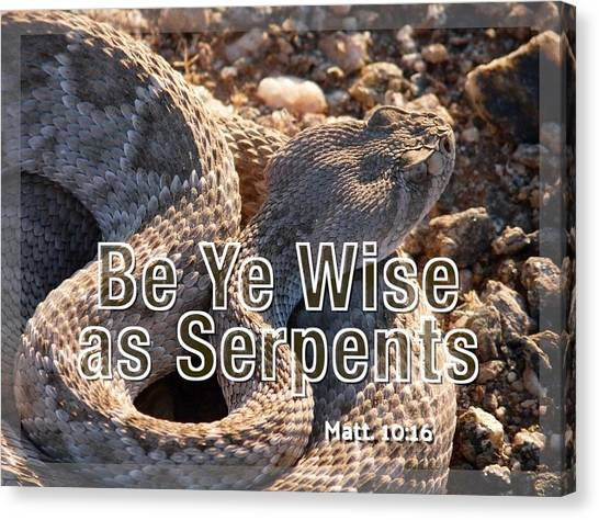 Be Ye Wise As Serpents Canvas Print