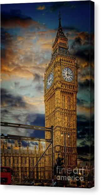 Palace Of Westminster Canvas Print - Big Ben London City by Adrian Evans