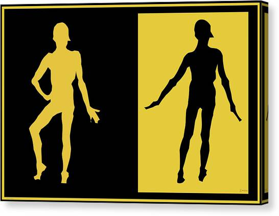 Male Nudes Canvas Print - Black Gold by Laurence Wolfe