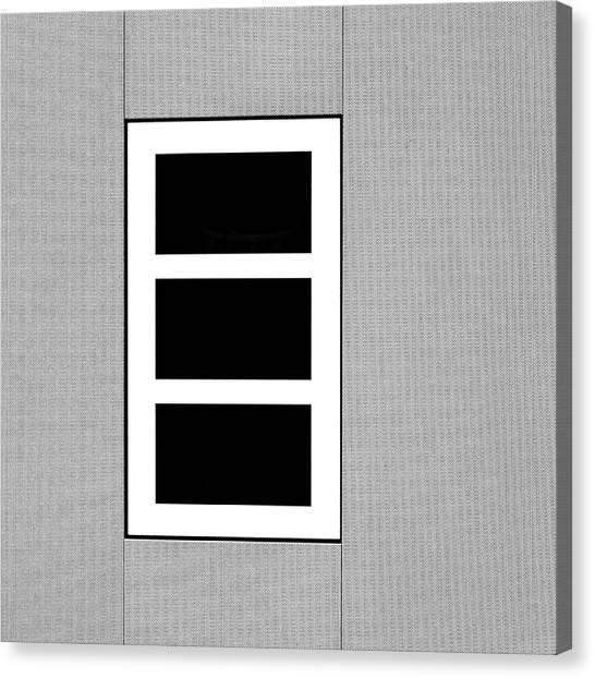 Black Tryptic Canvas Print