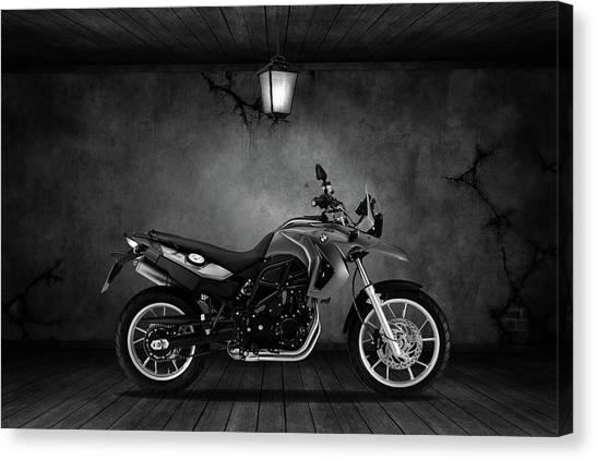 Bmw Canvas Print - Bmw F 650 Old Room by Smart Aviation