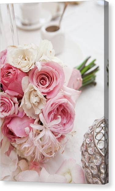 Wedding Bouquet Canvas Print - Bouquet Of Flowers by Ikonica