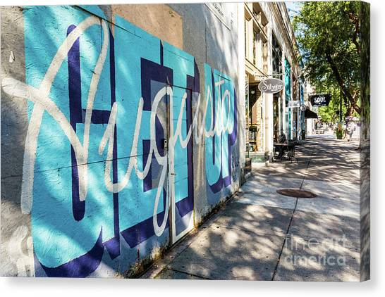 Broad Street Downtown Augusta Ga Canvas Print