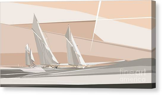 C-class Yachts  Canvas Print