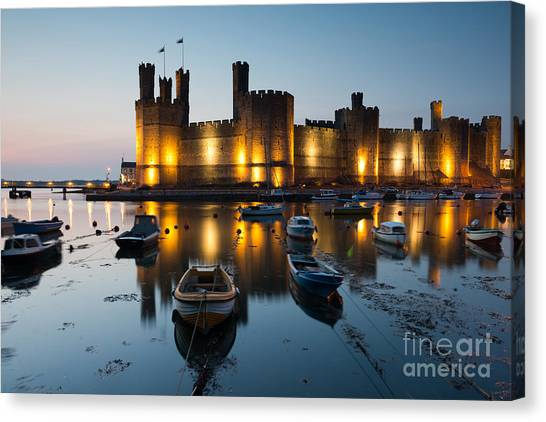 Tides Canvas Print - Caernarfon Castle , North Wales by Stocker1970
