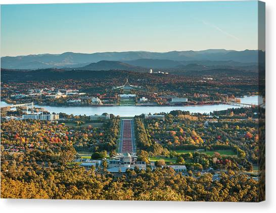Canberra Canvas Print - Canberra Cityscape by Andrew Watson