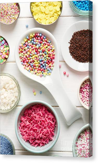 Decoration Canvas Print - Candy Sprinkles by Ruth Black
