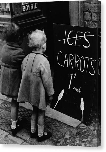 Carrot Lollies Canvas Print by Fox Photos