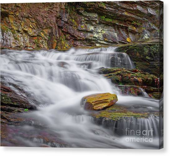 Canvas Print featuring the photograph Cascade 2 by Patrick M Lynch