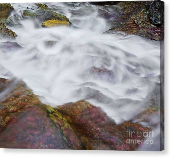 Canvas Print featuring the photograph Cascade 4 by Patrick M Lynch