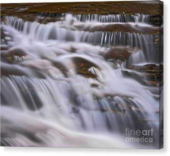 Canvas Print featuring the photograph Cascade 5 by Patrick M Lynch