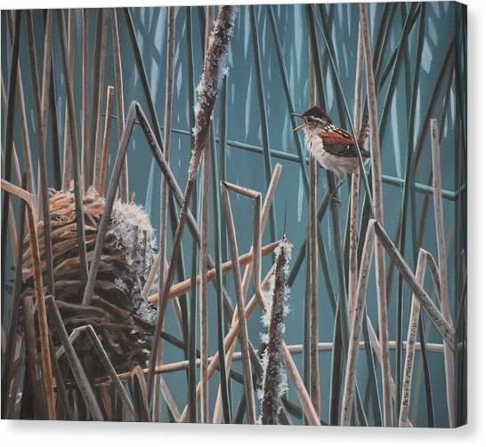 Cattail Hideaway Canvas Print