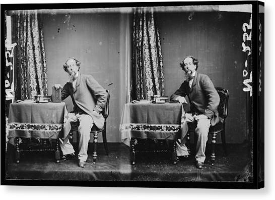 Charles Dickens Canvas Print by Hulton Archive