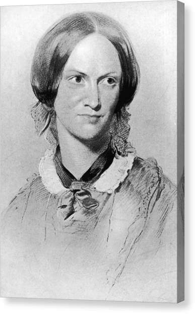 Charlotte Bronte Canvas Print by Hulton Archive