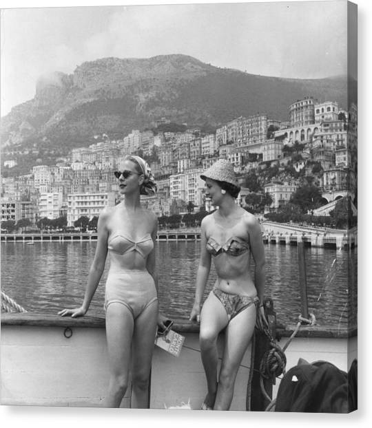 Chic Bikini Canvas Print by Bert Hardy