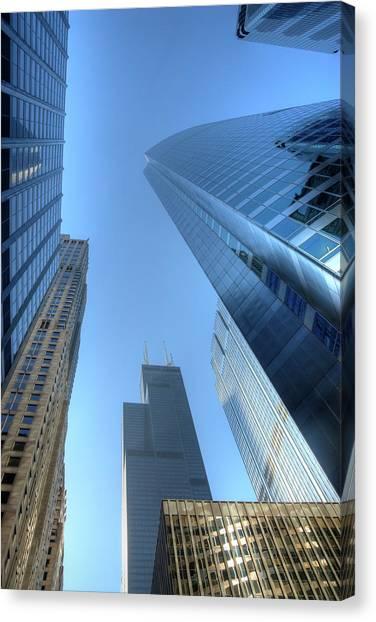 Chicago Skyline Skyscraper Canvas Print